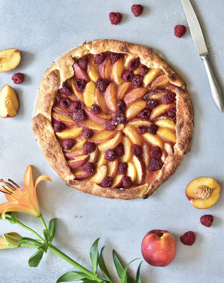 nectarine and raspberry galette recipe