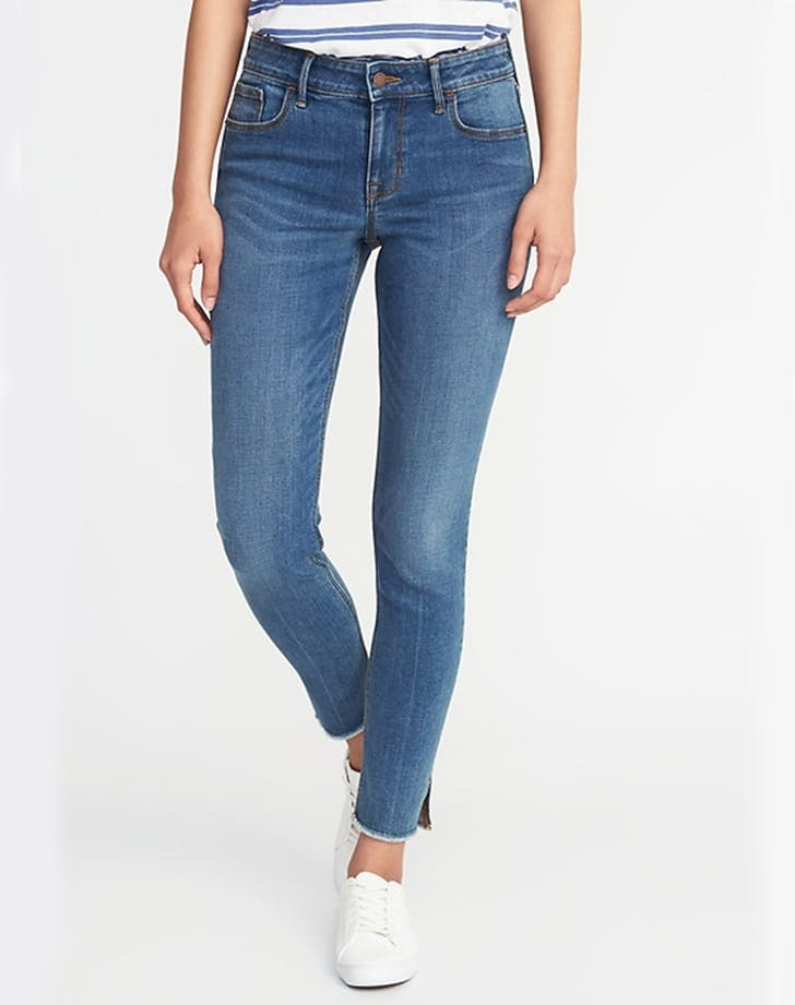 old navy raw edge jeans