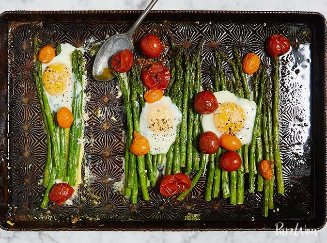 one pot ketogenic sheet pan eggs asparagus recipe 501