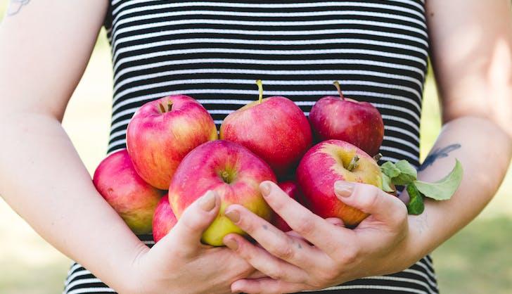 organic vs non organic apples