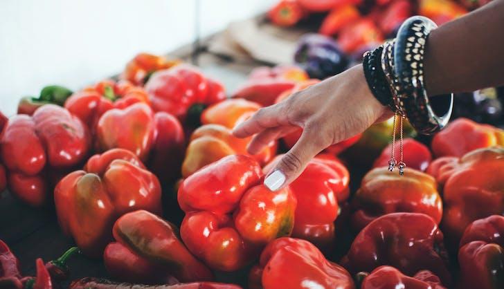organic vs non organic bell peppers