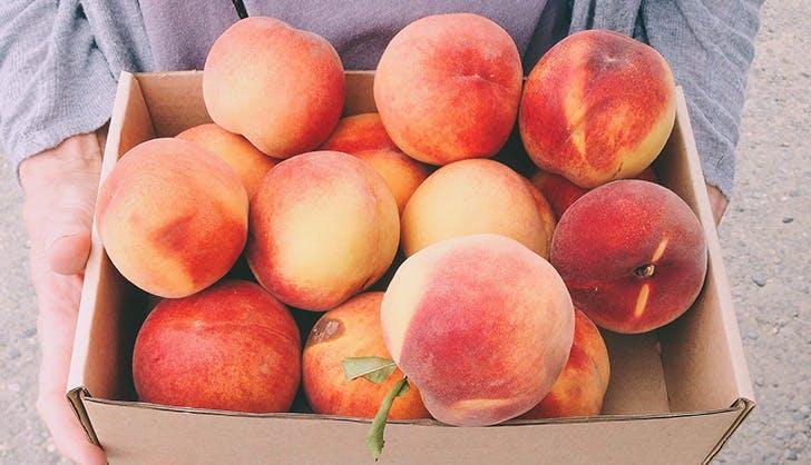 organic vs non organic peaches
