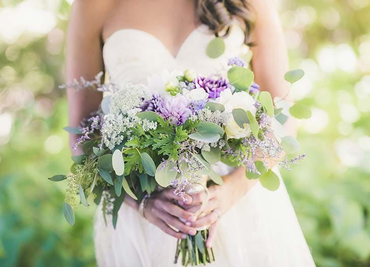 pale purple  wedding bouquet