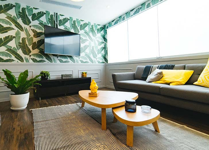 palm print interior