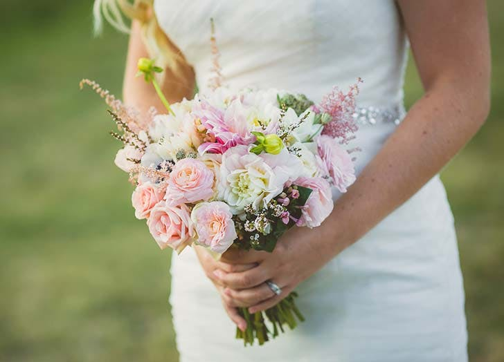 pink country wedding bouquet