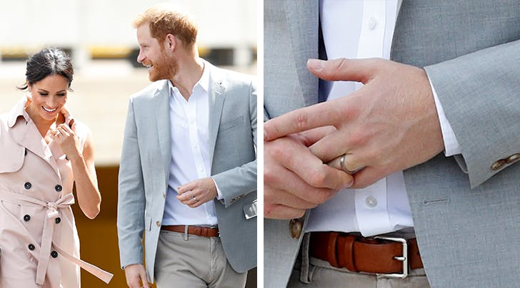 How Prince Harrys Wedding Band Breaks from Royal Tradition