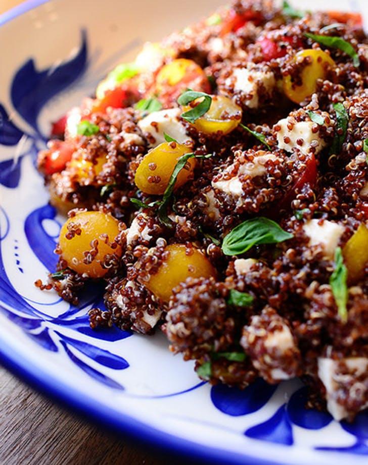 quinoa tomato basil mozzarella recipe