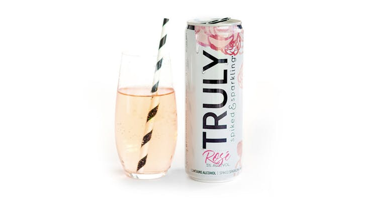 Truly Spiked & Sparkling Just Released a Rosé Water, and Its Only 100 Calories