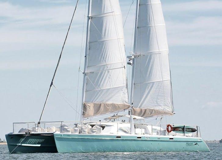 sail boat blue water