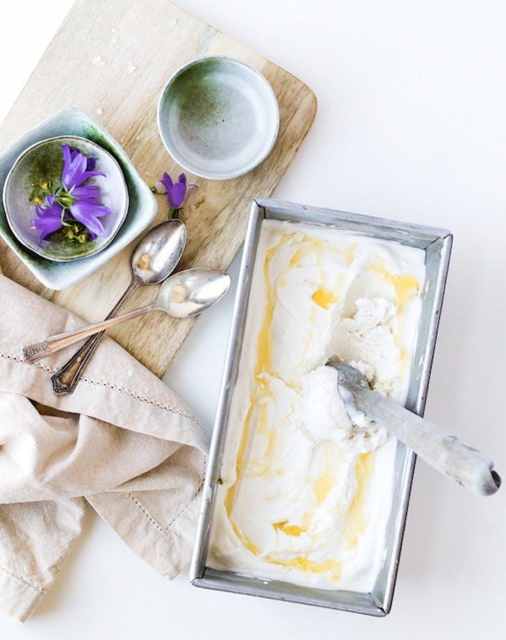salty honey coconut milk ice cream