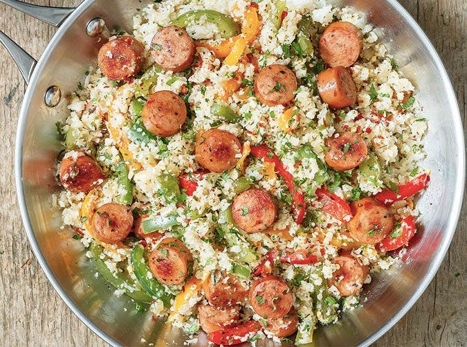 sausage and pepper fried rice