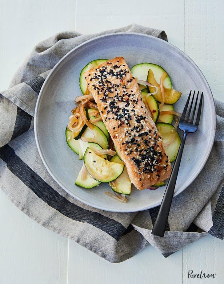 sesame ginger salmon plant based recipe