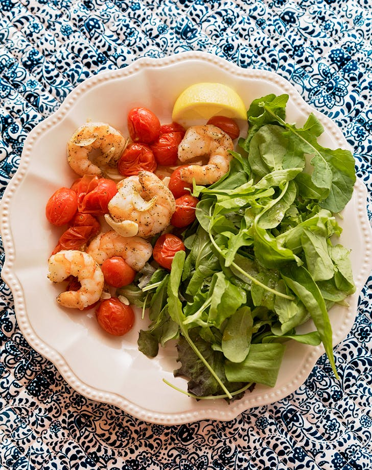 shrimp and tomato sheet pan dinner recipe