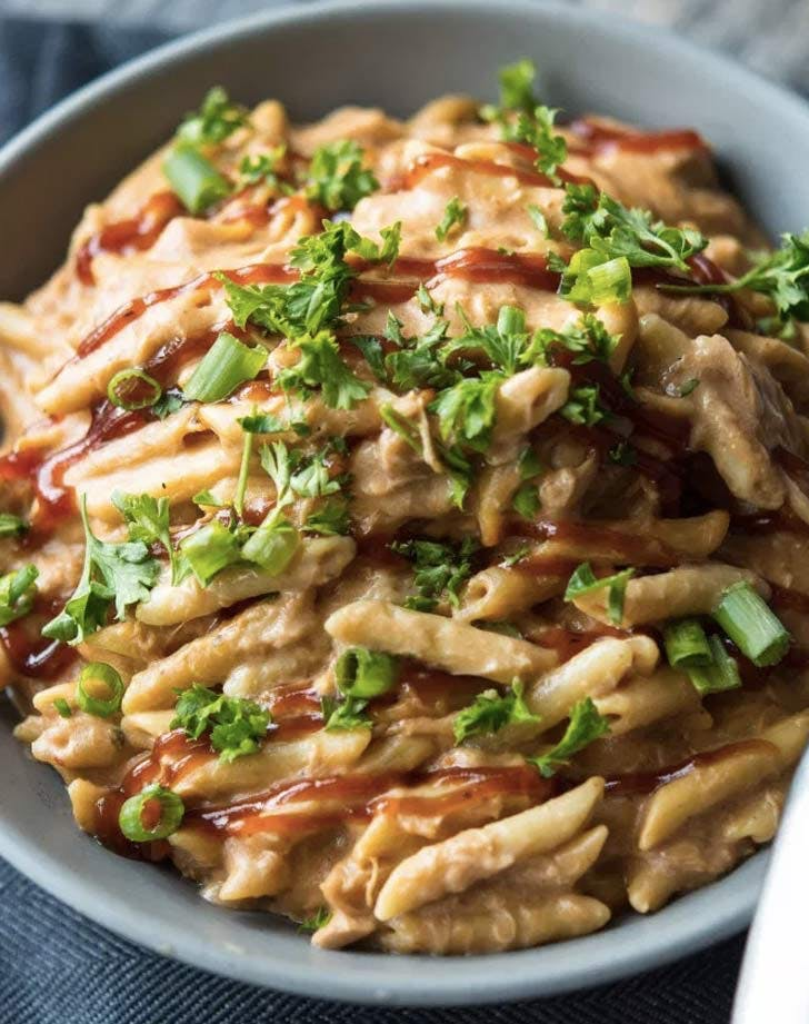 slow cooker barbecue chicken pasta recipe