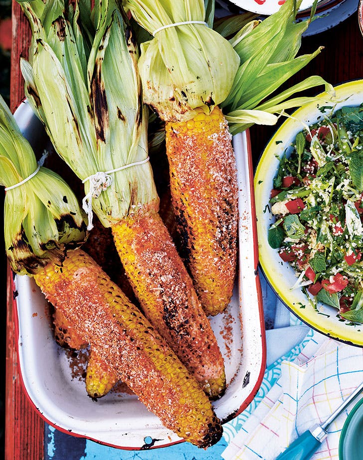 Smoky Barbecued Corn