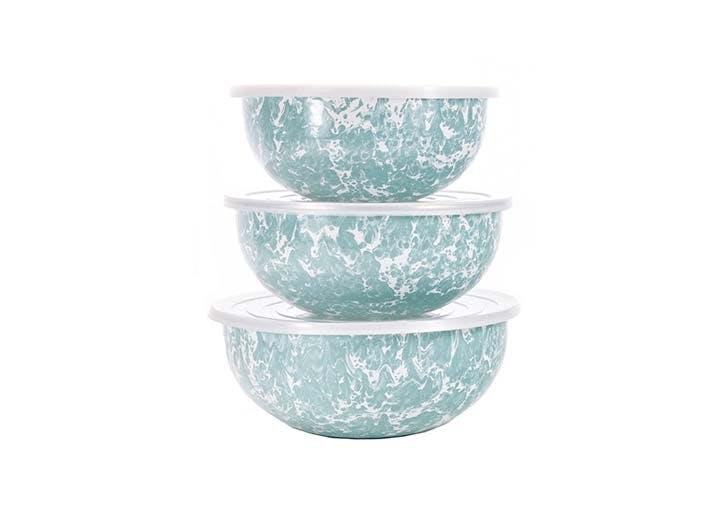 speckled nesting bowls