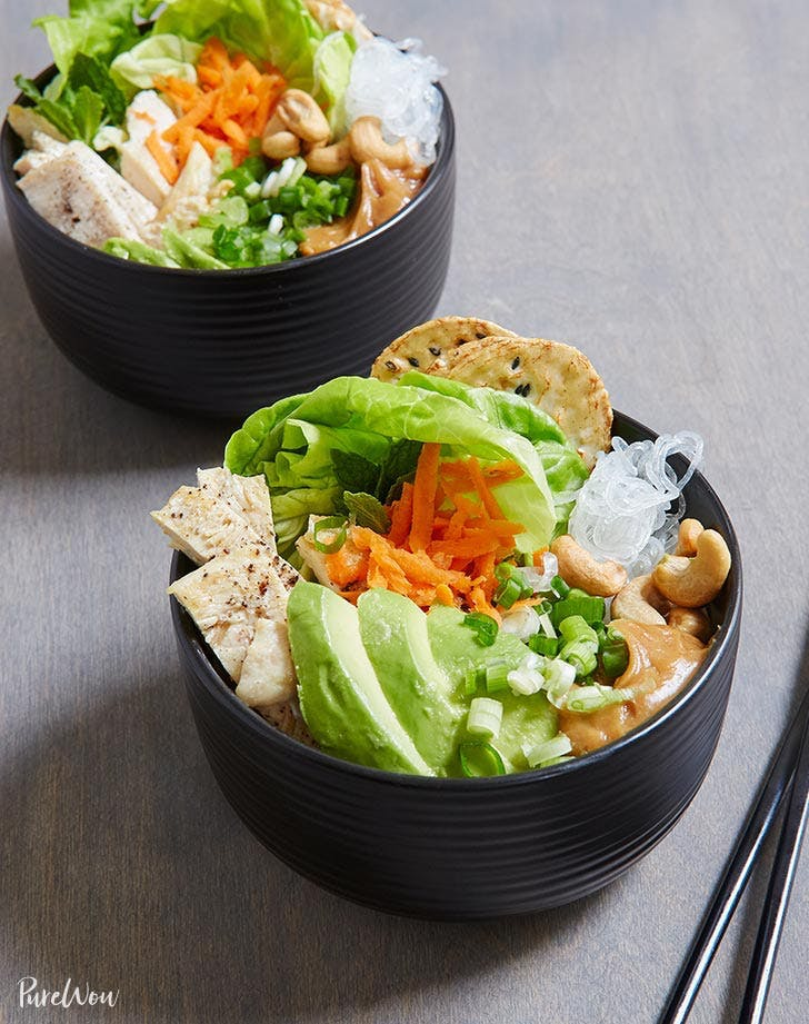 spring roll bowls plant based recipe