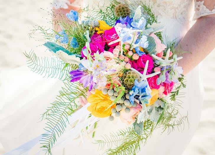 starfish wedding bouquet
