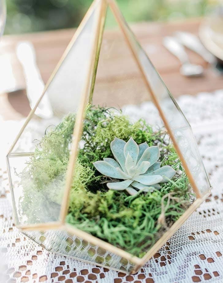 terrarium centerpiece for wedding