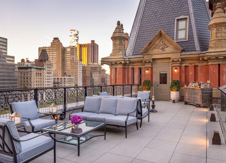 the beekman suite rooftop couches
