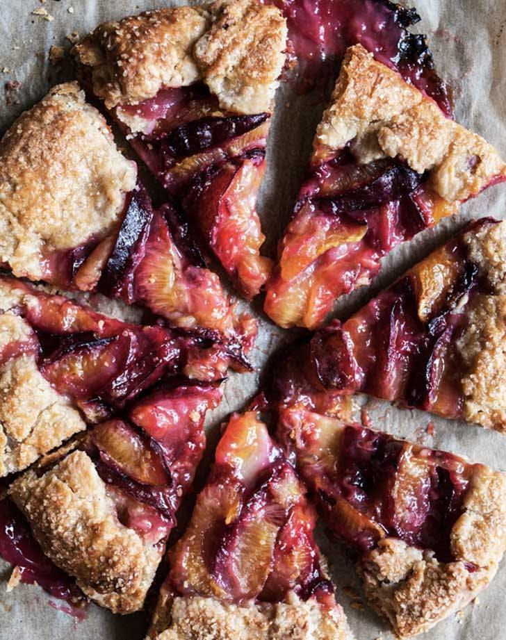 vegan spelt plum galette recipe