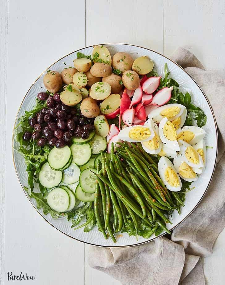 veggie nicoise salad plant based recipe