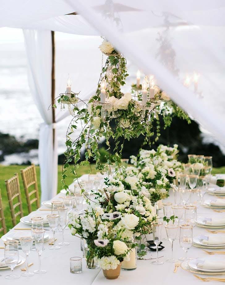 vine chandelier tabletop