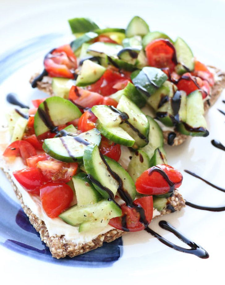 5-Minute Heirloom Tomato and Cucumber Toast