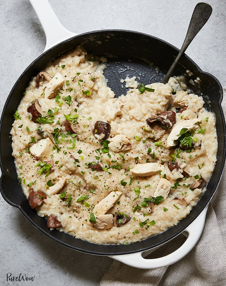 Baked Chicken and Mushroom Risotto recipe