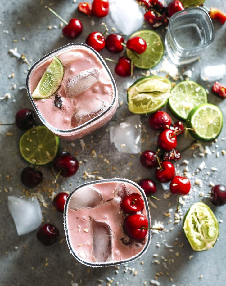 Cherry Coconut Margaritas clean eating recipe