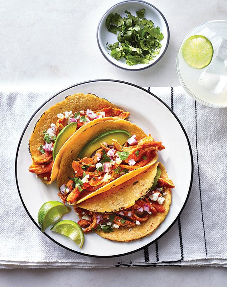 Chicken Tinga Tacos clean eating recipe