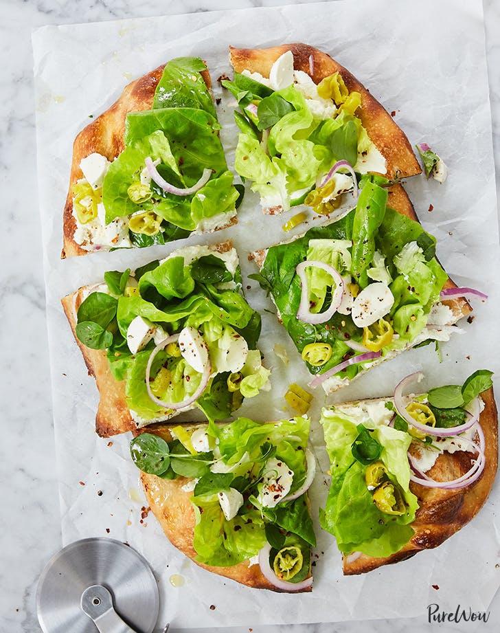 Chopped Italian Salad Pizza recipe