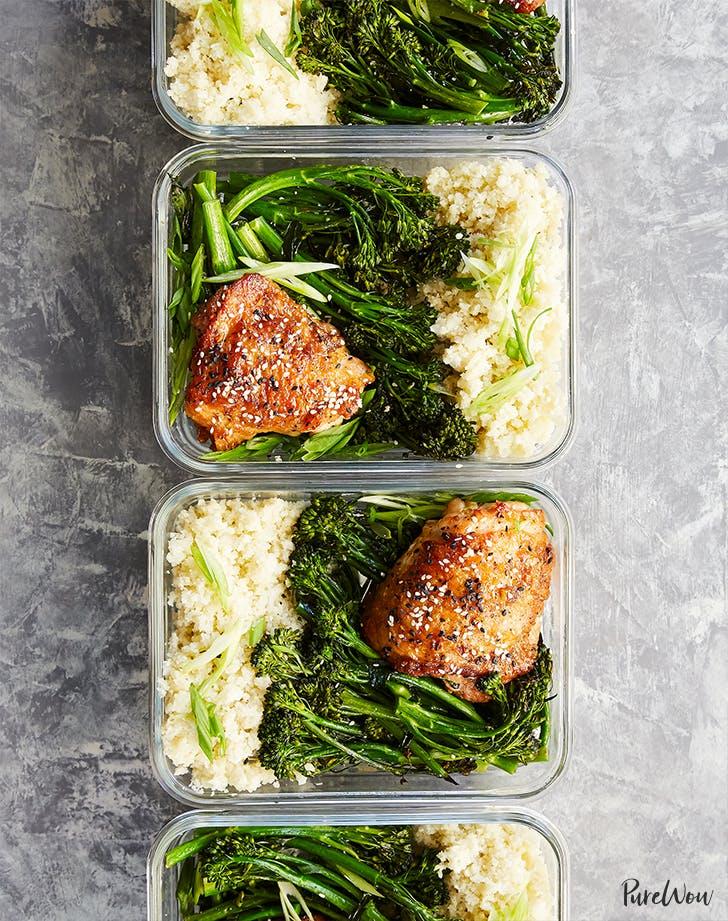 Honey Sesame Chicken with Broccolini recipe