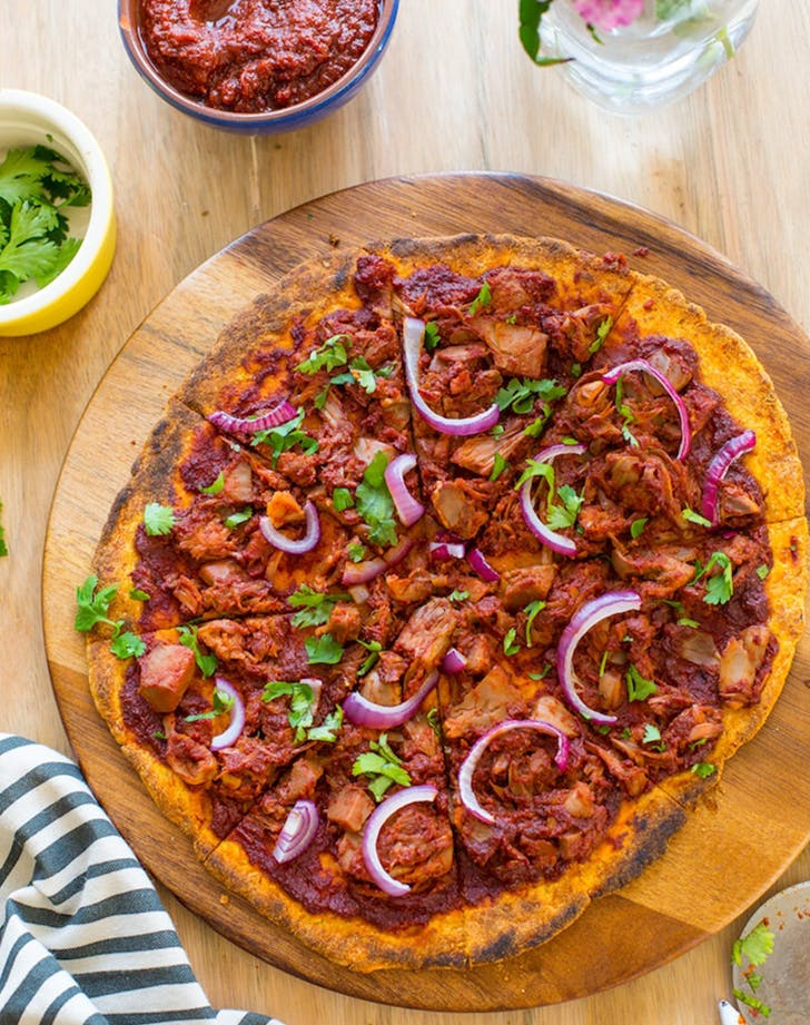 Jackfruit Barbecue Pizza pegan paleo vegan recipe