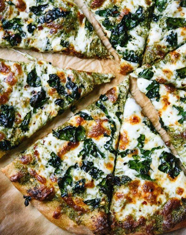 Kale Pesto Pizza recipe