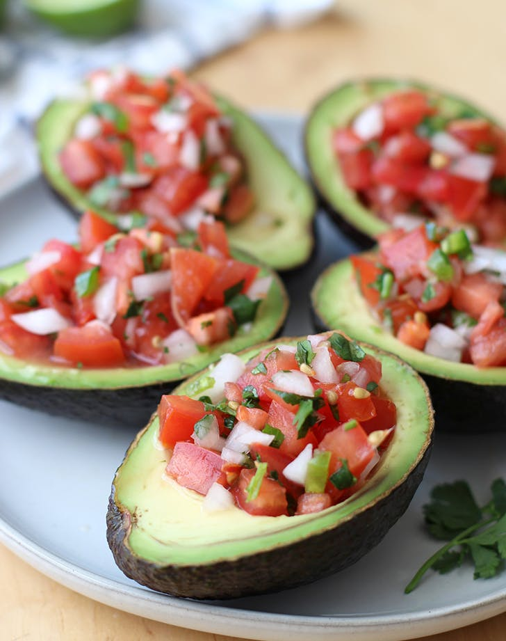 Pico de Gallo Stuffed Avocado pegan paleo vegan recipe