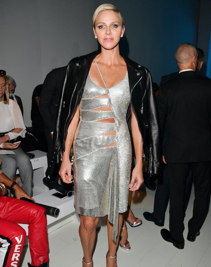Princess charlene versace cutout dress