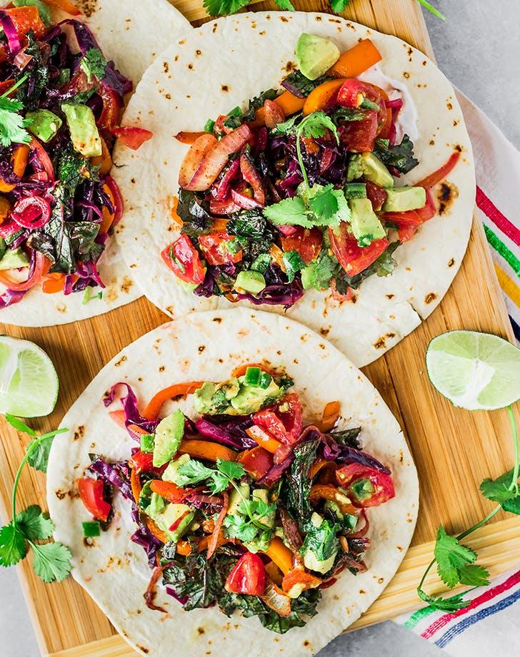 Simple Veggie Tacos vegan skillet recipe