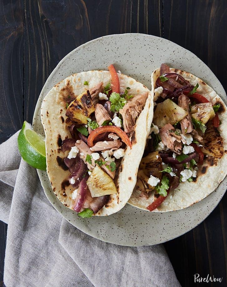 Spicy Jackfruit Tacos vegan skillet recipe