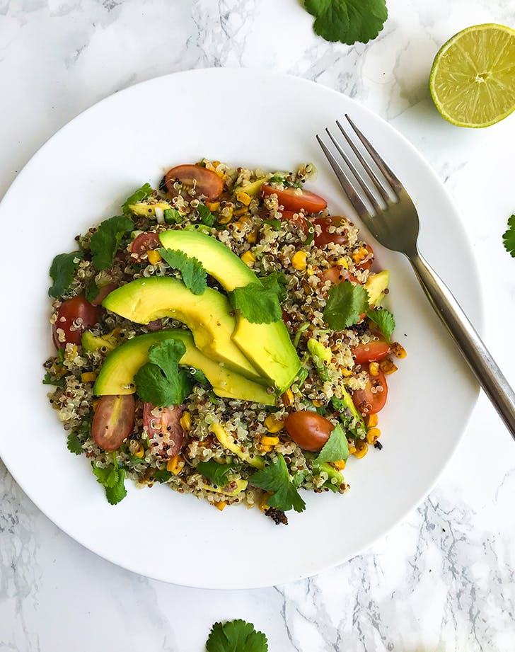 Toasted Corn Quinoa Salad pegan paleo vegan recipe