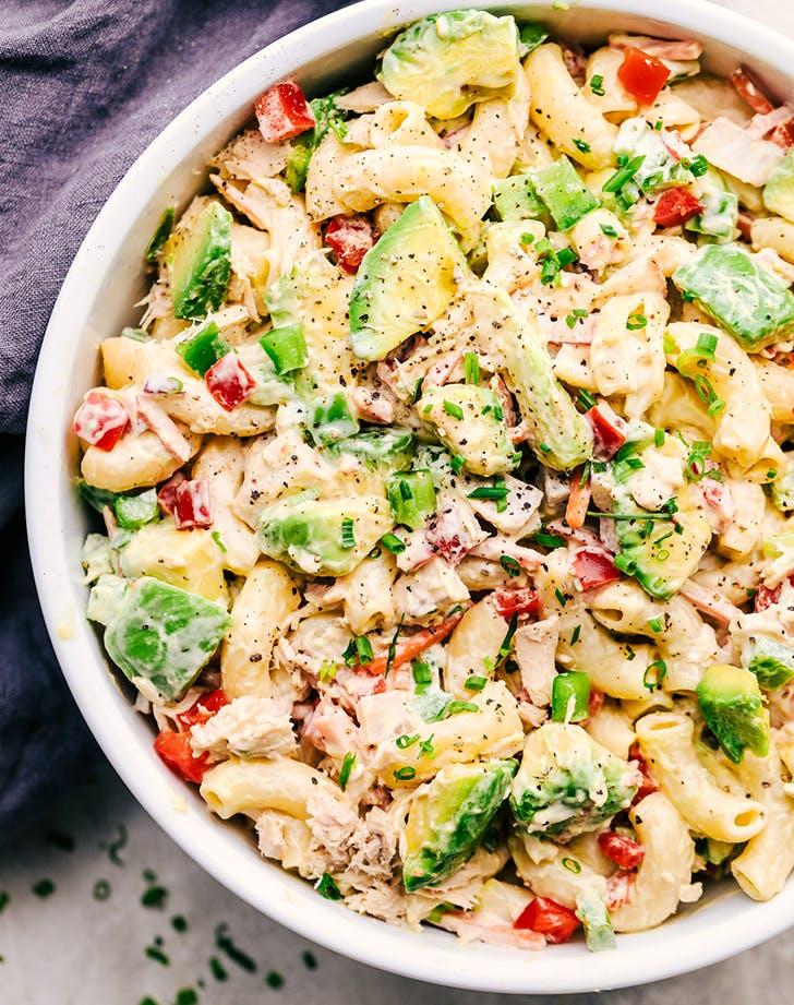 Tuna Avocado Macaroni Salad recipe