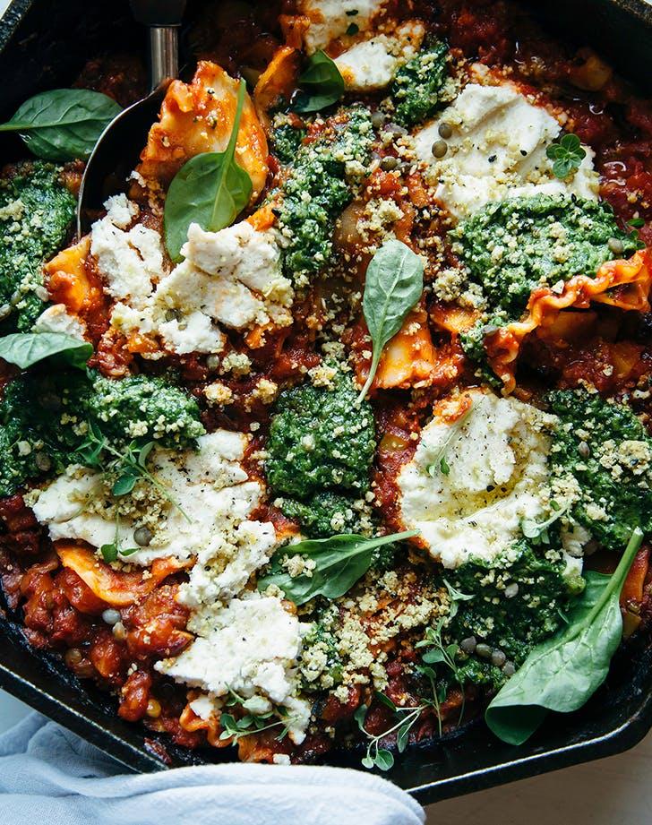 Vegan Skillet Lasagna vegan skillet recipe