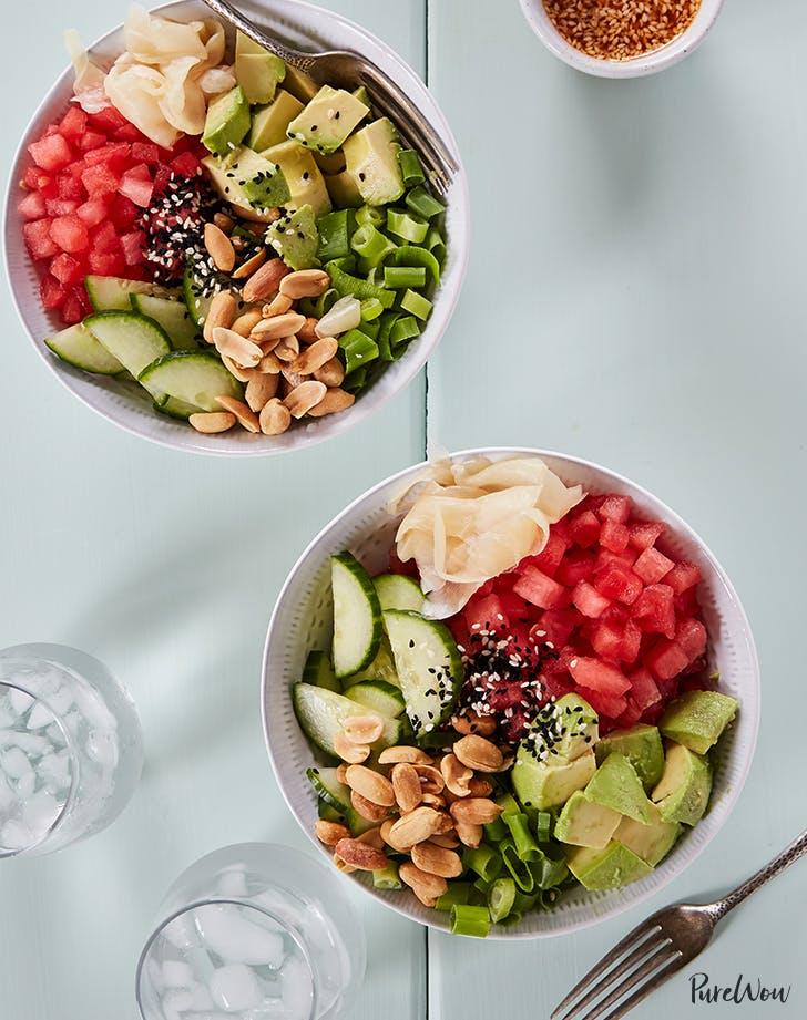 Watermelon Poke Bowls recipe