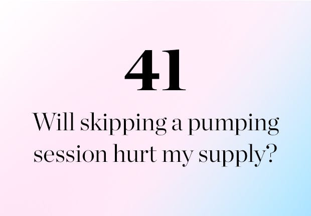 Will skipping a pumping supply hurt my supply