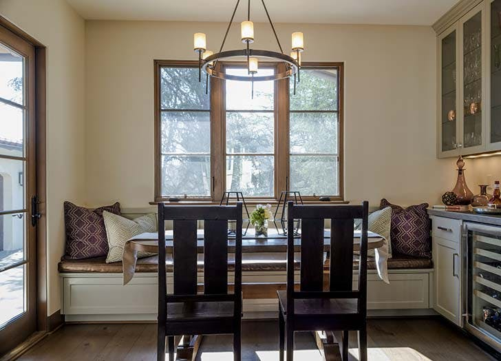 banquette in foyer
