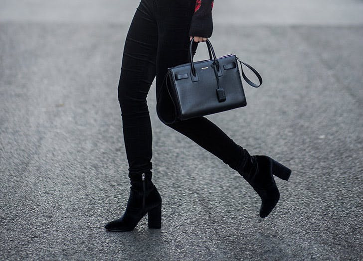 black skinny jeans ankle boots