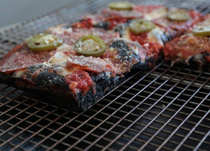 black square pizza