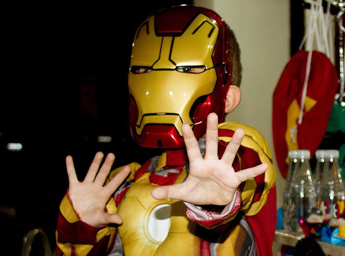 boy iron man costume
