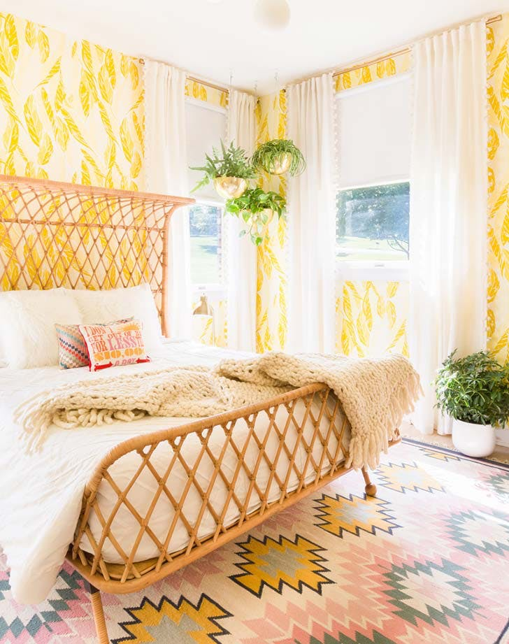 bright yellow bedroom
