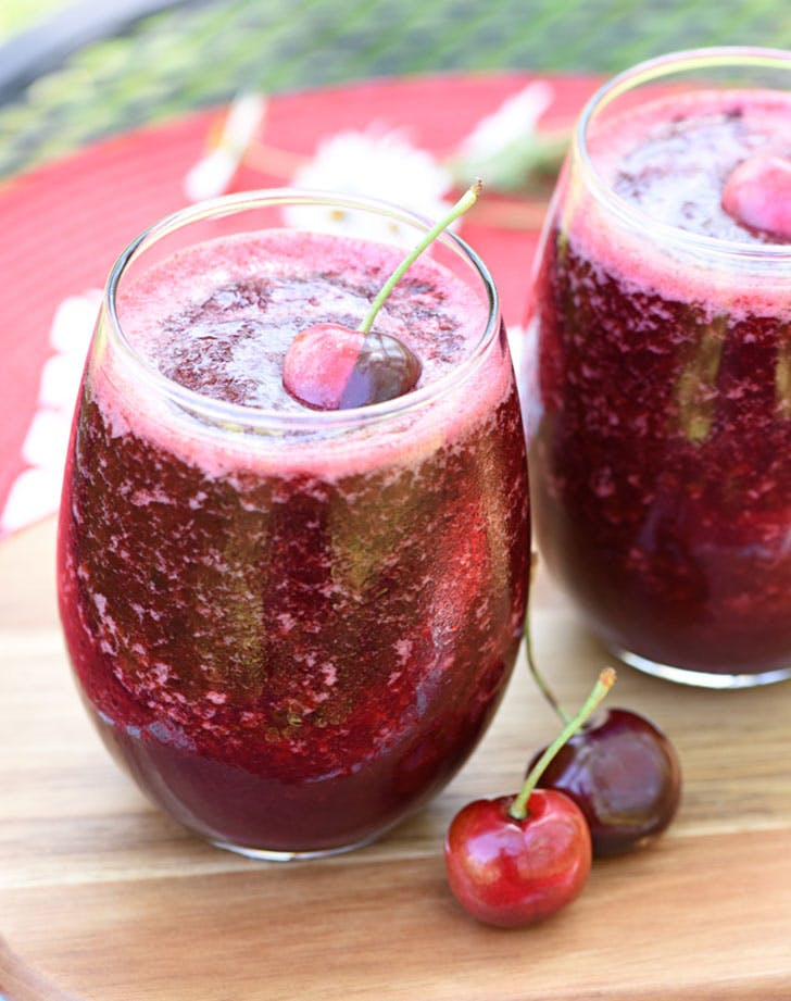 cherry vanilla wine slushies recipe